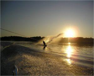 Waterskiing at Lake Metigoshe
